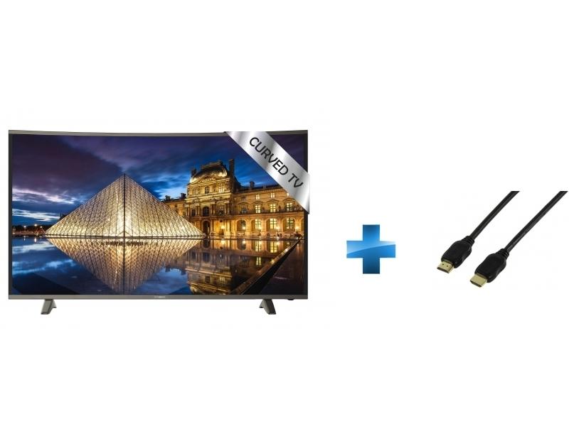TV Led 49'' - TRC49UHDP + Cordon HDMI 1.4 - 1.5 mètres