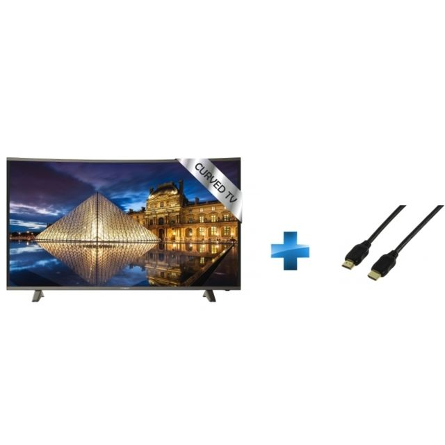 TV Led 49'' - TRC49UHDP + Cordon HDMI 1.4 - 1.5 mètres small