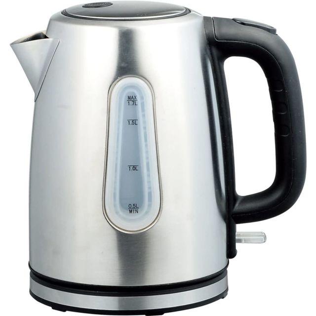 Tristar bouilloire électrique de 1,7L sans fil 2200W gris noir