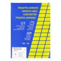 Techmay - Etiquettes couleurs 105 x 148,5 mm - jaunes - Boîte de 400