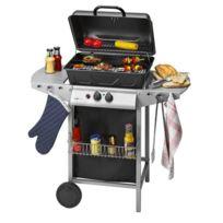 Clatronic - Barbecue à gaz Gg 3590, argenté-noir - 263692