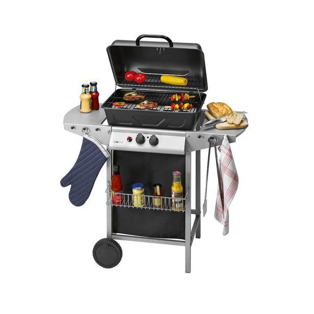 Clatronic Barbecue à gaz Gg 3590, argenté-noir - 263692