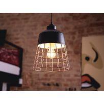 Beliani - Lampe - Lampe de plafond - Métal - Noire - Monte
