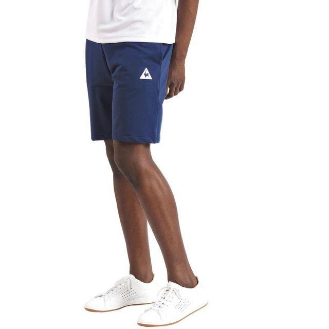 Le Coq Sportif - Short regular essentials bleu - pas cher Achat   Vente  Pantalons 5589b20c062