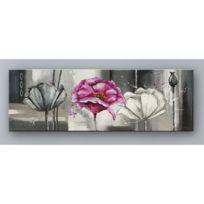 Tableau contemporain noir blanc achat tableau for Tableau noir et rose