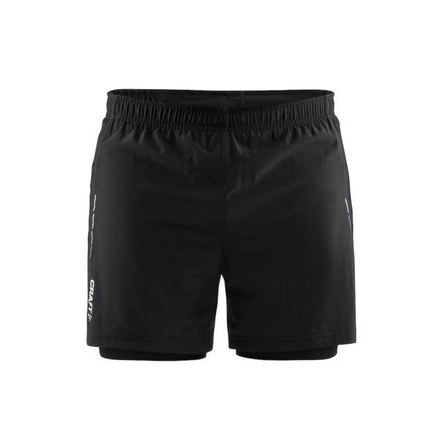 Craft 3D Run Essential Short 2 En 1 Homme Noir Short