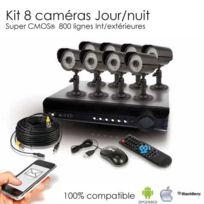 SecuriteGOODdeal - Kit de vidéosurveillance 8 caméras 600 lignes Cmos