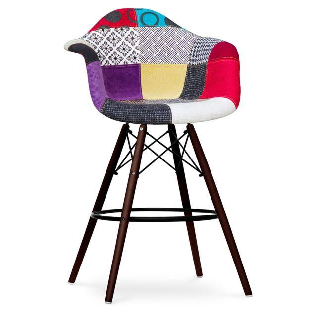 privatefloor tabouret de bar daw pi tement fonc eames. Black Bedroom Furniture Sets. Home Design Ideas