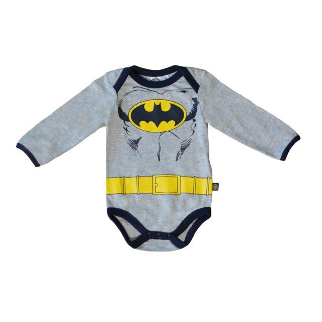 DC COMICS - Body ML Batman gris - 24mois - pas cher Achat   Vente  Sous-vêtements ab743c358f4