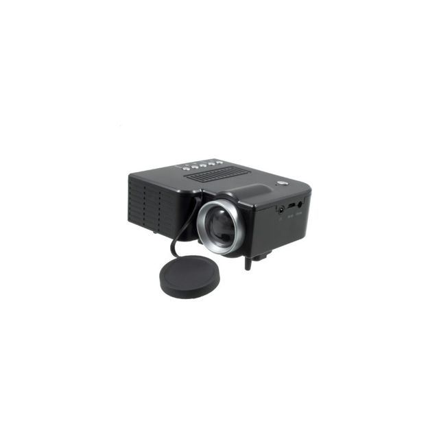 Auto-hightech Mini Projecteur Multimédia Home Cinema Led avec Usb et Ports Hdmi - Noir / Prise Ue
