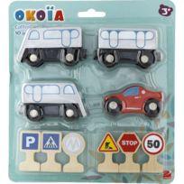 Okoia - Coffret circuit 10 accessoires en bois : Métro
