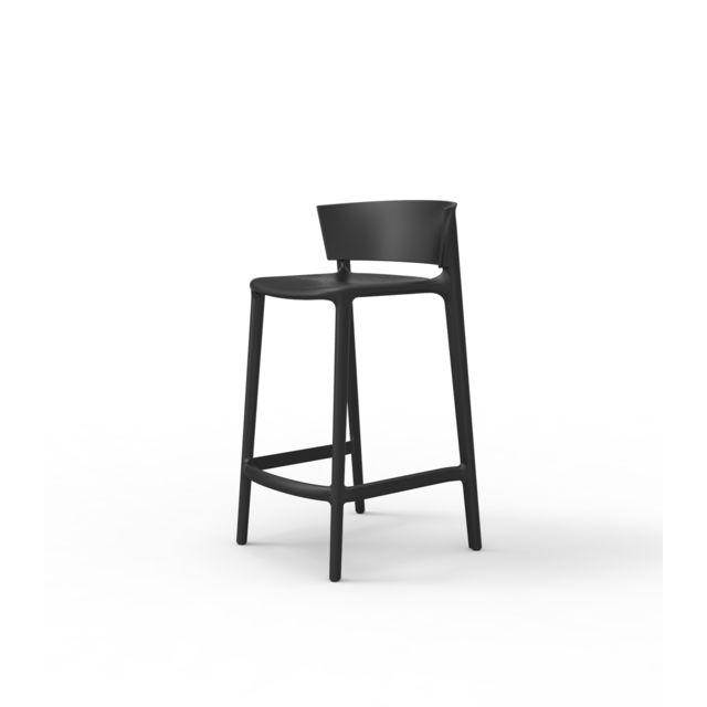 Vondom Tabouret de bar Africa - noir - Hauteur 85 cm