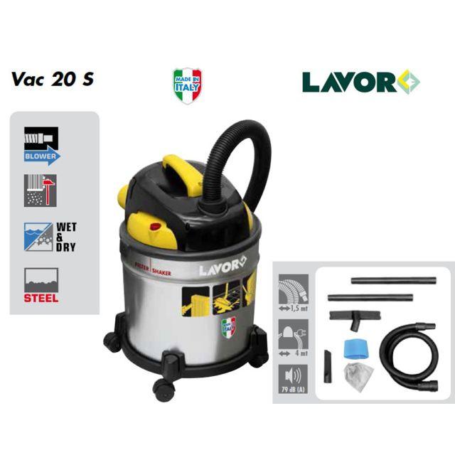 Lavor Aspirateur eau et poussières 1000W 20L 30L/s - Vac 20 S