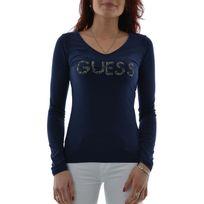 Guess jeans - Tee shirt manches longues w64i44 bleu S