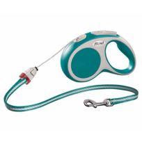 Flexi - Laisse à enrouleur Vario turquoise à corde Taille M Longueur 5 m chiens < 20 kg