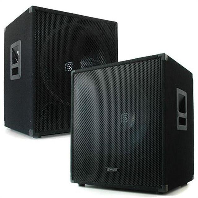SKYTEC Paire de caissons de basses PA DJ subwoofer 45cm 18