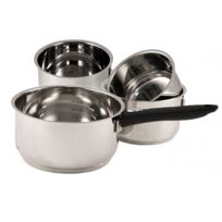 BAUMALU - série de 4 casseroles inox 14/16/18/20cm - 340953