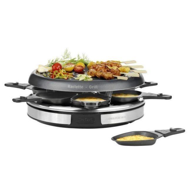 TEFAL Appareil à raclette Inox & Design RE127812