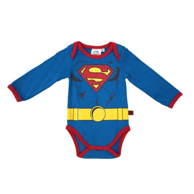 DC COMICS - Body ML Superman bleu - 24mois - pas cher Achat   Vente ... abb6fc5cf9d