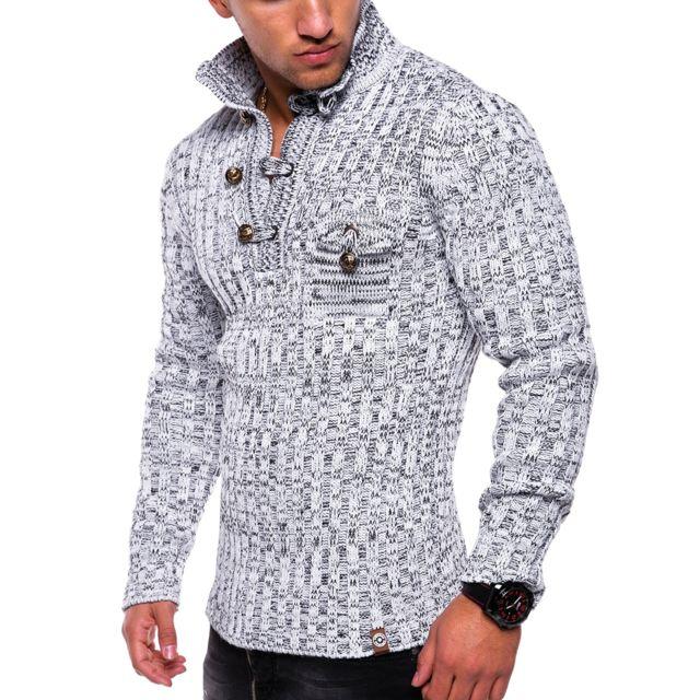 968261f13c4 Monsieurmode - Pull tendance pour homme Pull tz406 blanc - pas cher ...