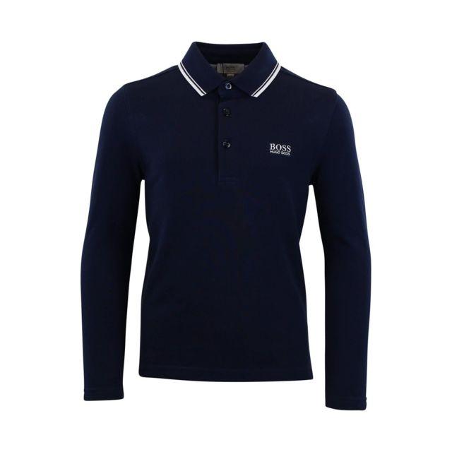 Hugo Boss - Polo Cadet - Ref. J25X24-849 - pas cher Achat   Vente Polo  enfant - RueDuCommerce 9696aba7a755