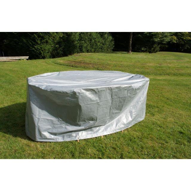 Chalet-Jardin - Housse de protection pour grande table ovale + ...