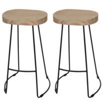 Mendler - 2x tabouret de bar Stirling, chaise de comptoir, tissu ... cda977e13b92