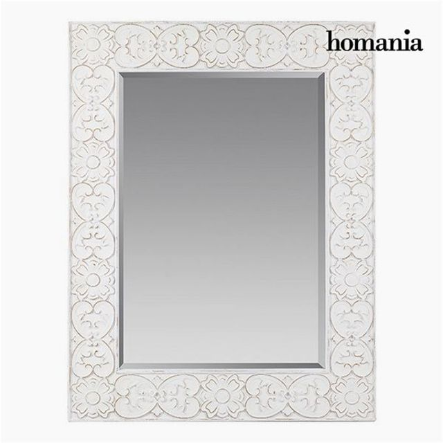 Homania miroir carr blanc collection pure white by for Collection miroir