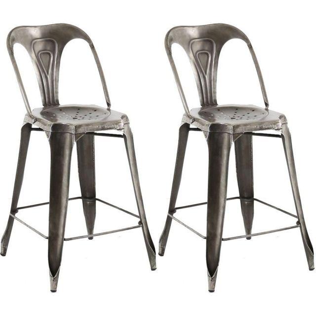 Lot Chaise Industriel 2 Bar Esprit De CWdorQxEBe