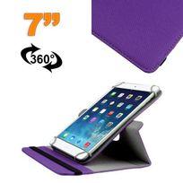 Yonis - Housse universelle tablette 7 pouces support 360° étui Violet