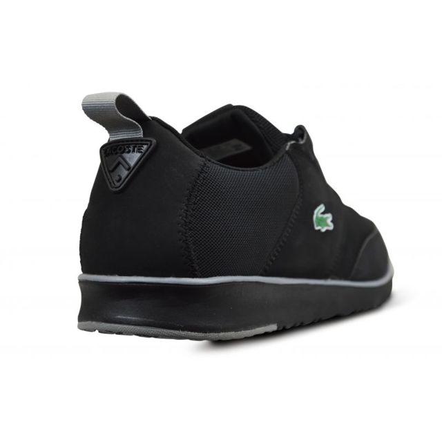0596888054c Lacoste - Chaussures noire light 116.1 - pas cher Achat   Vente Baskets  homme - RueDuCommerce