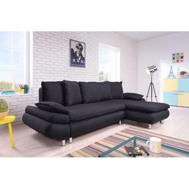 bobochic canap dangle convertible tissu 4 places nestor bobochic plusieurs coloris 260cm x. Black Bedroom Furniture Sets. Home Design Ideas