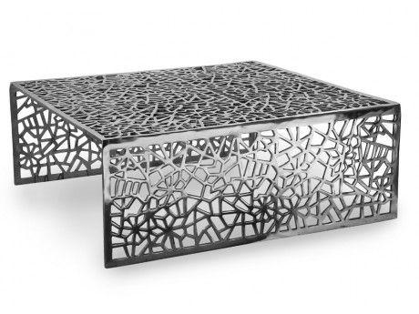 Insideart Table basse Splendeur en aluminium - Coloris argent