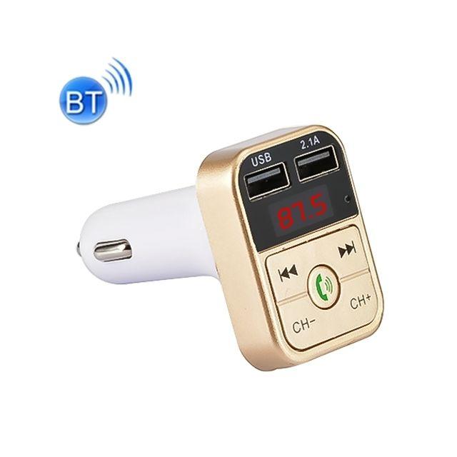 Kit de Voiture Bluetooth Lecteur MP3/Appel Mains Libres sans Fil Transmetteur FM Chargeur de Voiture Prise en Charge Micro Carte TF et U Disque pour t/él/éphone Portable