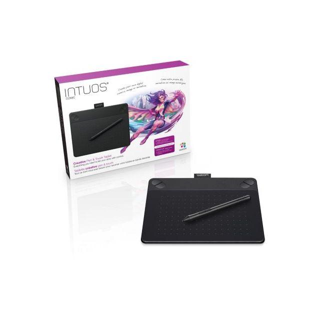 Wacom - Tablette graphique Intuos Comic Black Pen & Touch Small