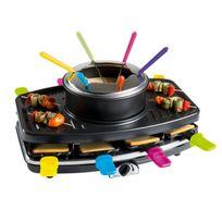 Domoclip - Set à raclette, gril et fondue pour 8 personnes 1100W - Doc107
