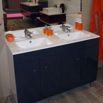 CREAZUR - Plan double vasque céramique CÉRAPLAN - 120 cm