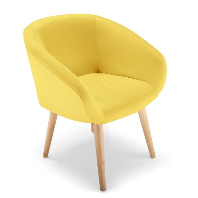 cote cosy chaise fauteuil style scandinave frost jaune. Black Bedroom Furniture Sets. Home Design Ideas