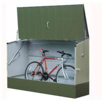 Trimetals - Abri vélos vert en métal 1,96x0,89x1,33 m - Abrivelos_VERT