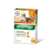 Advantage - 40 Anti-puces pour chats < 4 kg Boîte 6 Pipettes