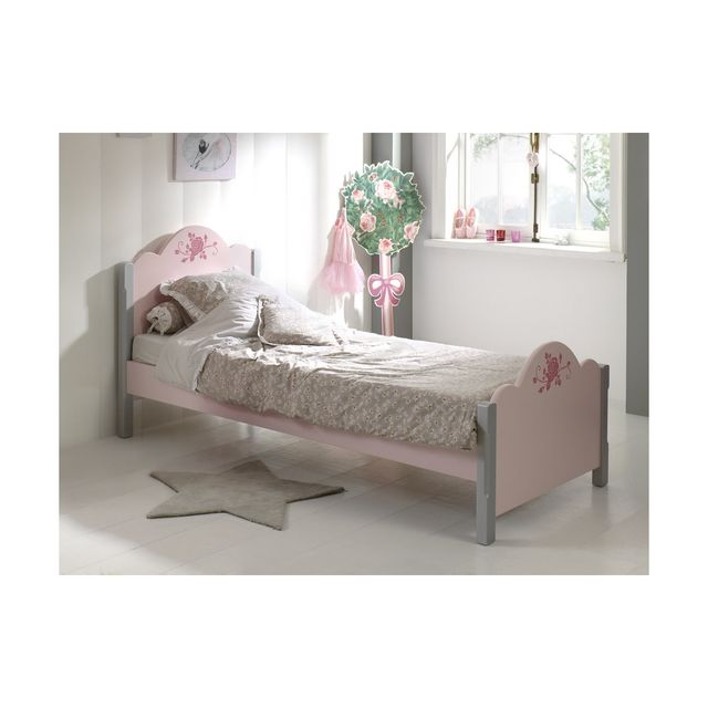Vipack Lit Simple 90x200cm Cindy Rose Pas Cher Achat Vente