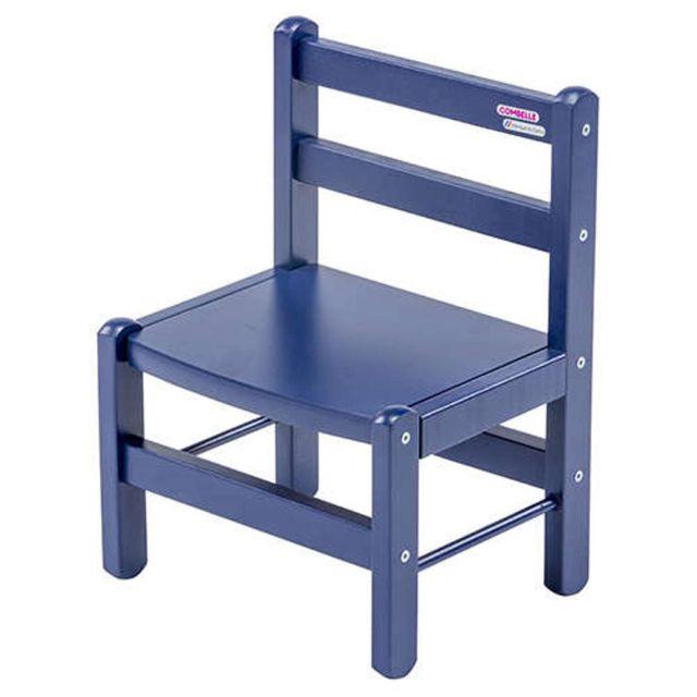 Combelle Chaise Enfant - laqué bleu