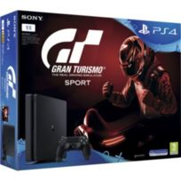 SONY - Pack PS4 SLIM 1To E Noire + Gran Turismo Sport + Qui es-tu ? à télécharger