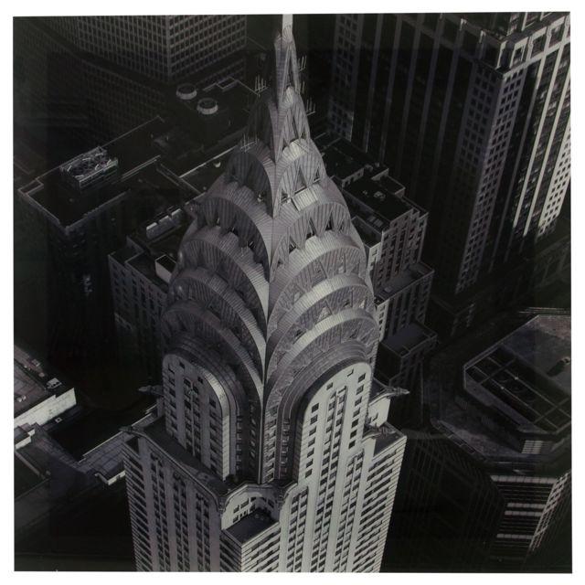 Atmosphera, Createur D'INTERIE Toile photo plexiglas Empire - 75 x 75 cm - Gris