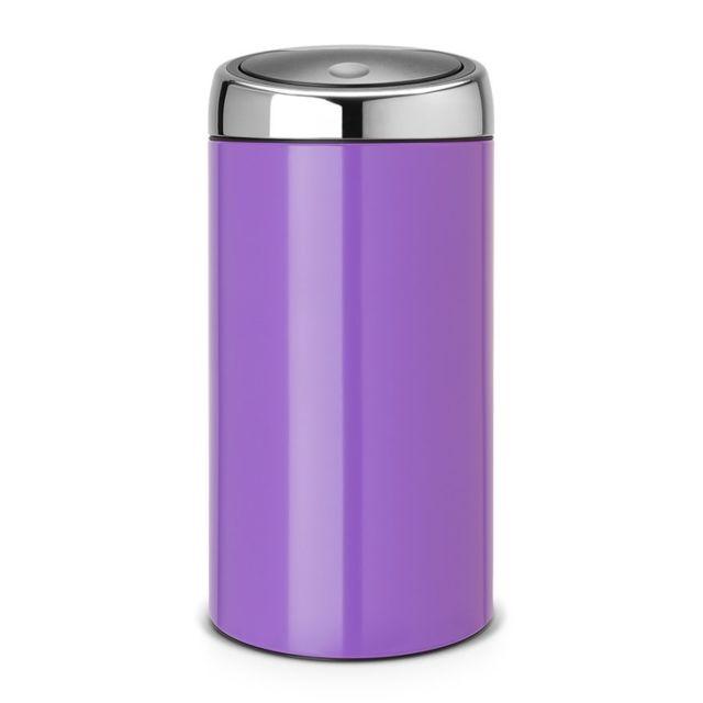 Brabantia Poubelle Touch Bin®, 45 litres - Pansy Purple