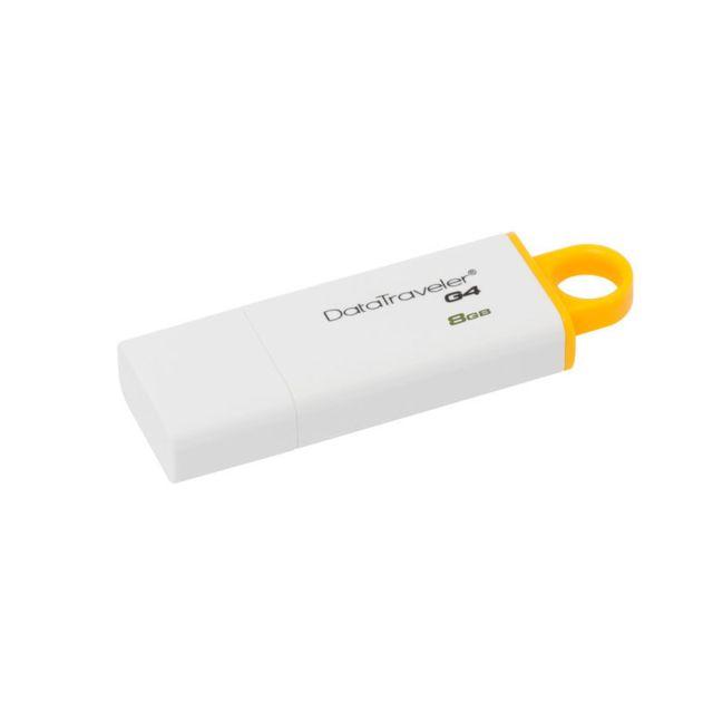 KINGSTON Clé USB 3.0 DataTraveler I G4 - 8 Go Disponible en plusieurs couleurs (selon la capacité) - Grand cordon de couleur pour l'accrocher à unporte-clés - Capuchon pratique pour protéger la clé et vos données - Personnalisable avec votre logo et/ou vo