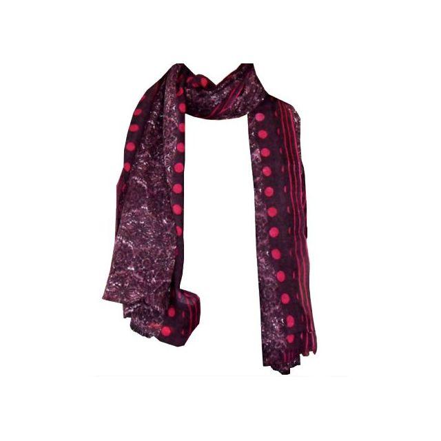 1db105eca851 Hellocadeau - Echarpe tendance en étamine de laine   180x75 cm - pas cher  Achat   Vente Echarpes, foulards - RueDuCommerce