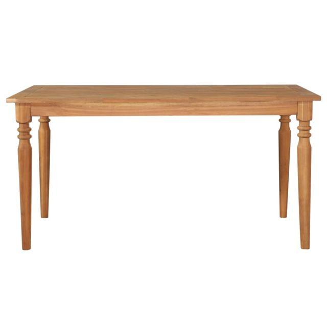 Icaverne Tables de cuisine ligne Table de salle à manger 150x90x75 cm Bois d'acacia solide