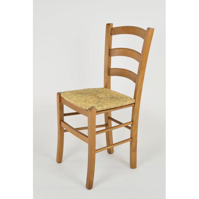 Tommychairs set 1 chaise venice pour la cuisine et la salle manger solide structure en bois - Chaises cuisine couleur ...
