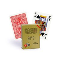 Modiano - Cartes Golden Trophy 4 index Regular rouge